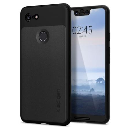 new style 77045 93721 Spigen Thin Fit Google Pixel 3 XL Case and Screen Protector - Black