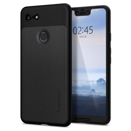 new style e7c3e 869d3 Spigen Thin Fit Google Pixel 3 XL Case and Screen Protector - Black
