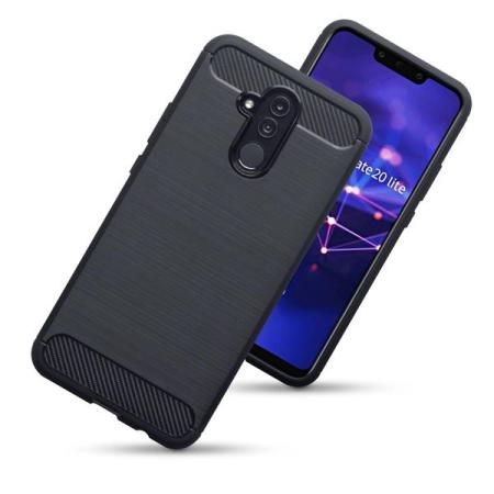 Olixar Huawei Mate 20 Lite Carbon-Fibre Design Gel Case - Black