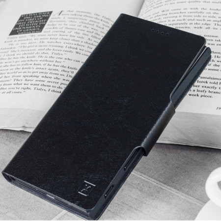 Olixar Leather-Style Sony Xperia 10 Wallet Stand Case - Black