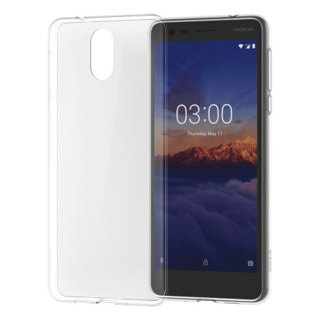 Official Nokia 3.1 Slim Crystal Silicone Case - Clear