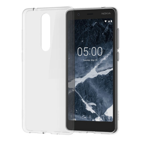size 40 860fd 2a4f3 Official Nokia 5.1 Slim Crystal Silicone Case - Clear
