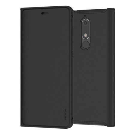 sale retailer 14e49 72666 Official Nokia 5.1 Slim Flip Wallet Case - Black