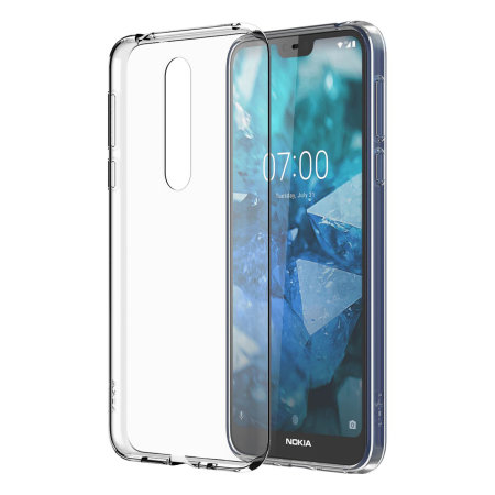 Official Nokia 7.1 Slim Crystal Silicone Case - Clear