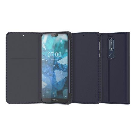 more photos e836c 5b79b Official Nokia 7.1 Entertainment Flip Wallet Case - Blue