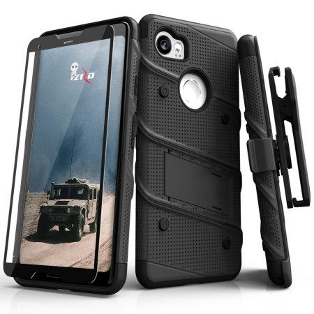 Zizo Bolt Series Google Pixel 3 XL Stoere Case & Riemclip - Zwart