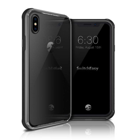 switcheasy iglass iphone xs max bumper case - black