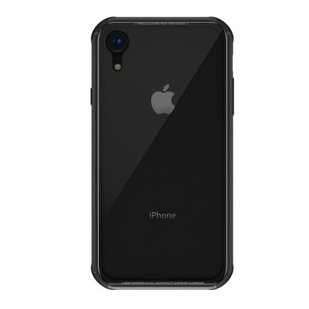 switcheasy iglass iphone xr bumper case - black