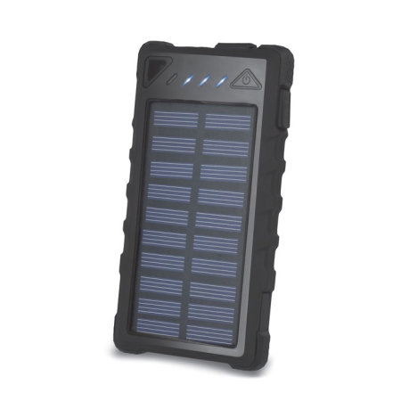 Forever Portable 8000mah Solar Power Bank - Black