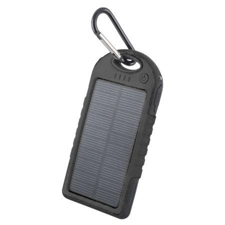 Forever Portable 5000mah Solar Power Bank - Black