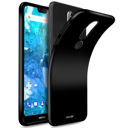Olixar FlexiShield Nokia 7.1 Case- Solid Black