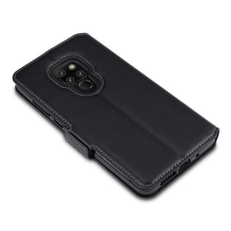 Olixar Huawei Mate 20 Low Profile Genuine Leather Wallet Case - Black