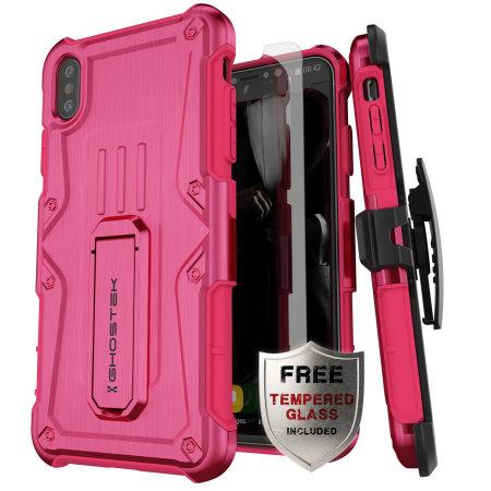Ghostek Iron Armor iPhone XS Max Case - Atomic Pink