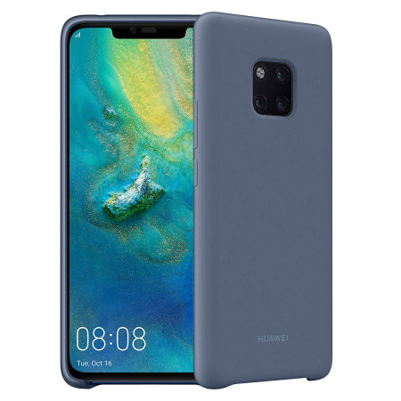 newest a32d5 92bf7 Official Huawei Mate 20 Pro Silicone Case - Blue