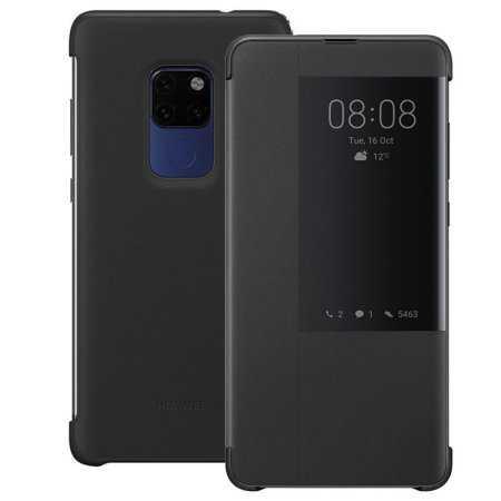 Official Huawei Mate 20 Smart View Flip Case - Black