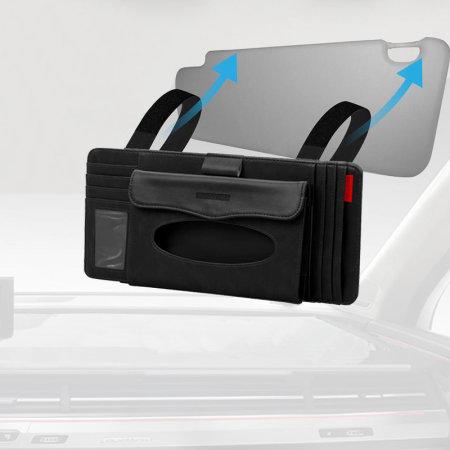Promate CarCaddy Multifunktionsvisier für Autos CD & Karten - Schwarz