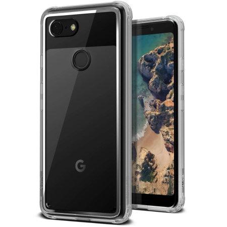 Crystal Chrome Google Pixel 3 skal från VRS Design - Genomskinligt