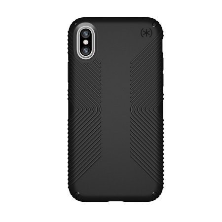 speck presidio grip iphone xs case - black
