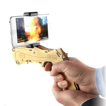 Augmented Reality (AR) Toy Gun With Phone Holder & App