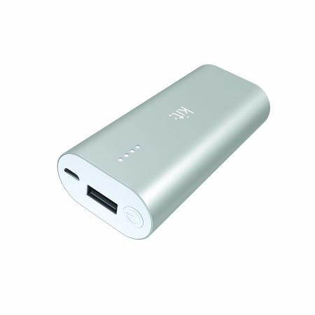 Kit Premium Portable 6000 mAh Universal Emergency Power Bank - Silver