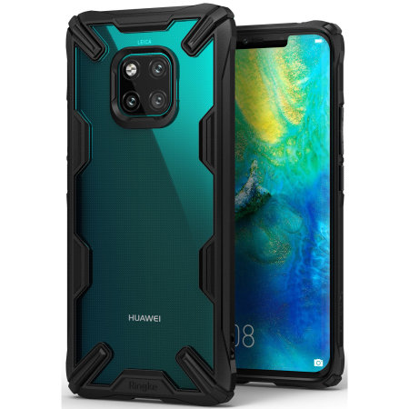 Coque Huawei Mate 20 Pro Rearth Ringke Fusion X robuste – Noir