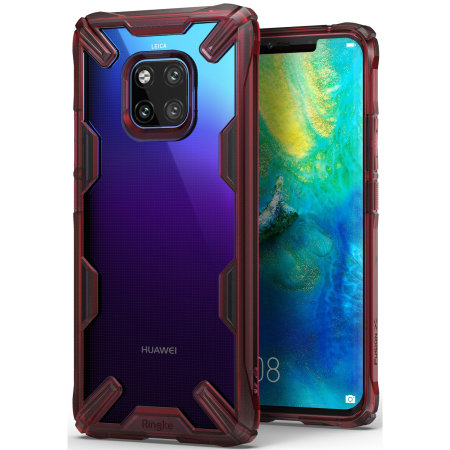 Ringke Fusion X Huawei Mate 20 Pro Tough Case - Ruby Red