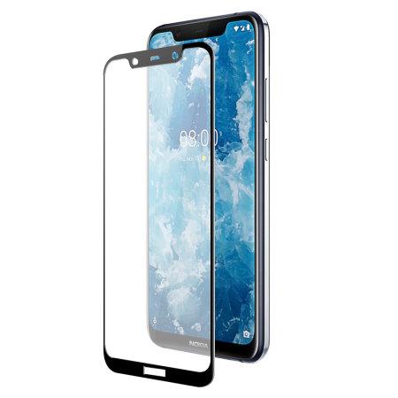 wholesale dealer 13377 dbf9e Olixar Nokia 8.1 Full Cover Glass Screen Protector - Black