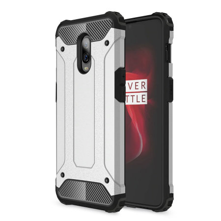 detailed look dff1e 8a38d Olixar Delta Armour Protective OnePlus 6T Case - Black / Silver
