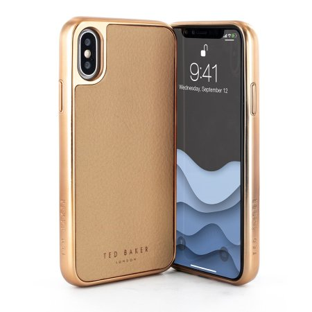 apple iphone xs max leather case taupe