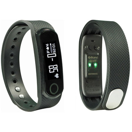 Q-Band Fitness Tracker with Heart Rate Monitor for iOS and Android