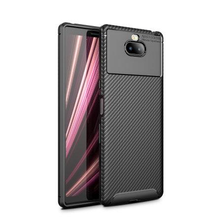 Olixar Sony Xperia 10 Carbon Fibre Case - Black