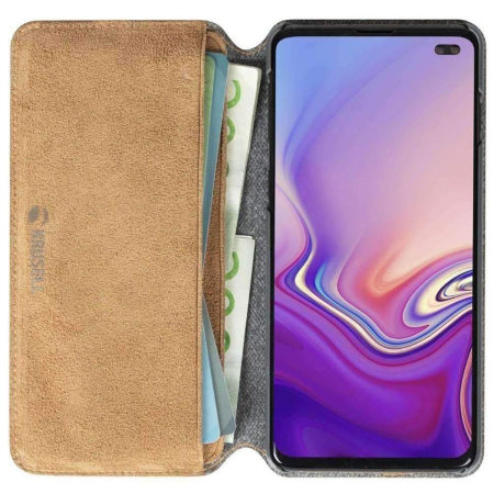 Krusell Broby Samsung Galaxy S10 Plus Slim 4 Card Wallet Case - Cognac