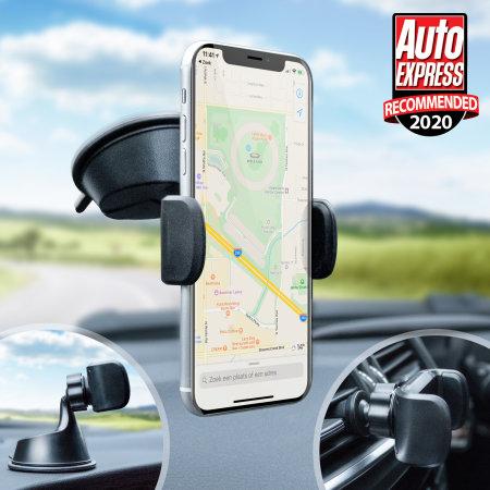 Supporto auto per Smartphone Olixar TriMount Parabrezza e Cruscotto