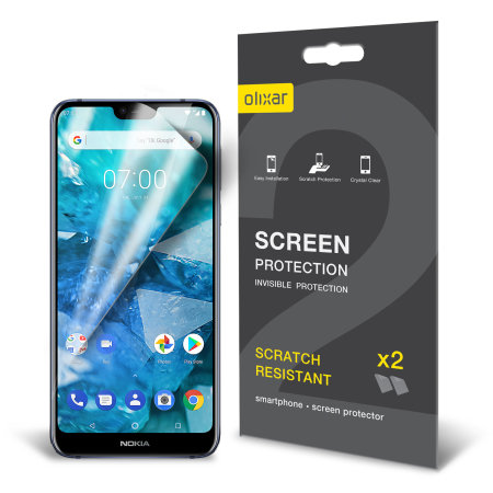 Olixar Nokia 7.1 Film Screen Protector 2-in-1 Pack
