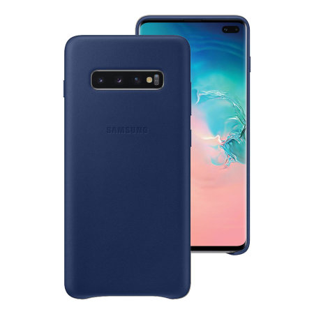 Official Samsung Galaxy S10 Plus Leather Cover Case - Navy
