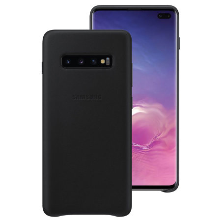 Official Samsung Galaxy S10 Plus Leather Cover Case - Black
