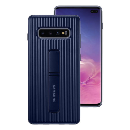 Official Samsung Galaxy S10 Plus Protective Stand Cover Case - Blue