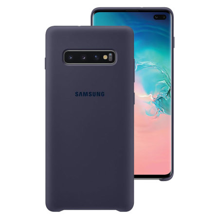 Official Samsung Galaxy S10 Plus Silicone Cover Case - Navy