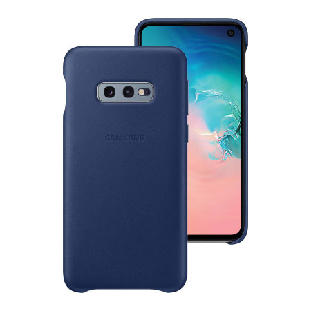 Official Samsung Galaxy S10e Genuine Leather Cover Case - Navy