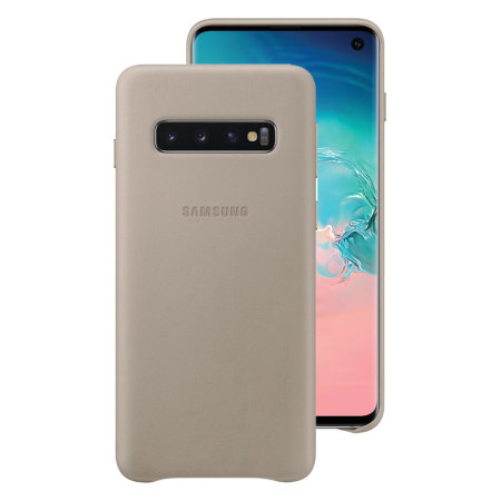 Official Samsung Galaxy S10 Leather Cover Case - Grey