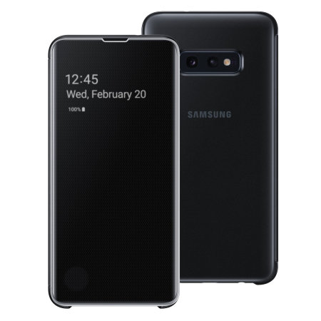 Custodia ufficiale Samsung Galaxy S10e Clear View Cover - Nero