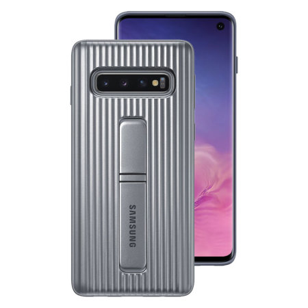 official photos cb3bd d132b Official Samsung Galaxy S10 Protective Stand Cover Case - Silver