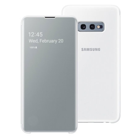 Official Samsung Galaxy S10e Clear View Cover Case - White