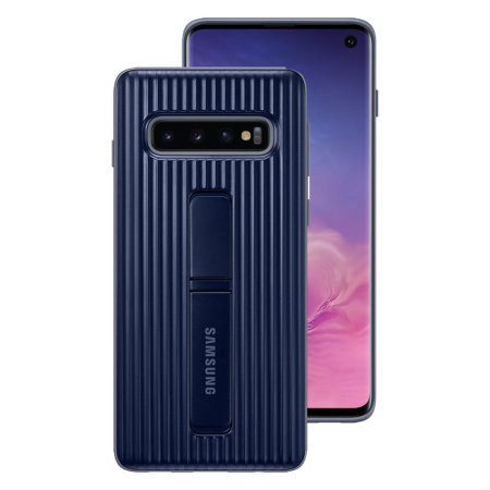 Officieel Samsung Galaxy S10 Protective Stand Cover Case - Donkerblauw
