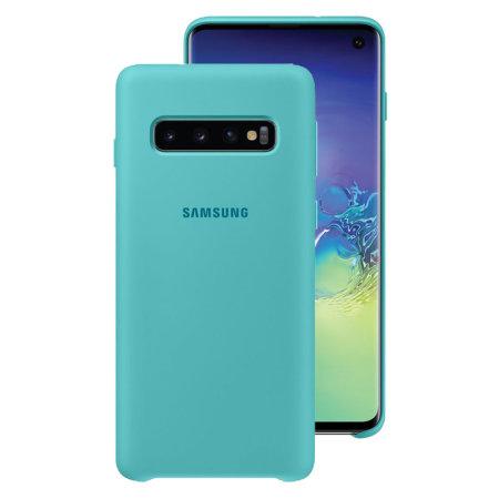 Officiële Samsung Galaxy S10 Siliconen Case - Groen