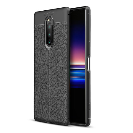 Olixar Attache Sony Xperia 1 Leather-Style Case - Black