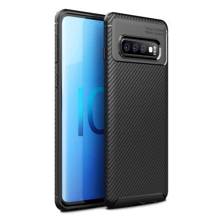 Olixar Carbon Fibre Samsung Galaxy S10 Plus Case - Black