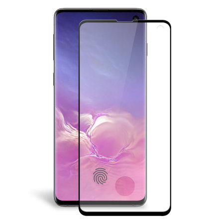 Olixar Galaxy S10 Case Compatible Glass Screen Protector - Black