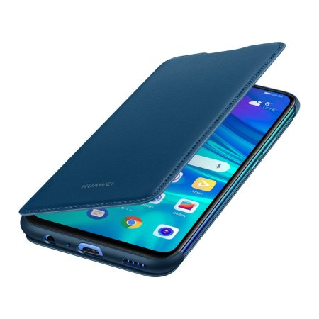the latest b3be2 0fc92 Official Huawei P Smart 2019 Wallet Cover Case - Blue