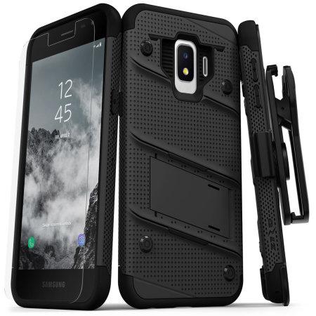 Funda Samsung Galaxy J2 Zizo Bolt con Protector de Pantalla - Negra